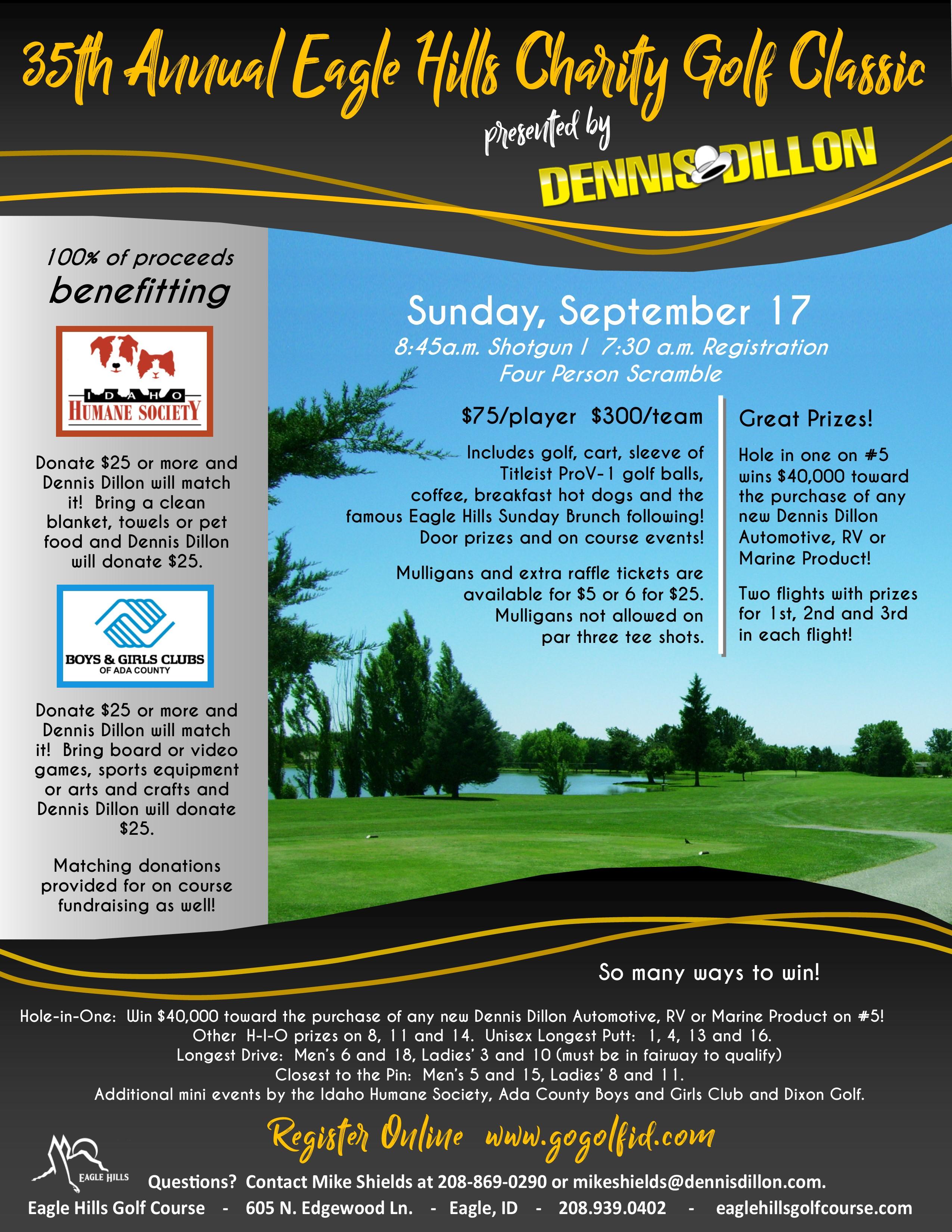 Dennis Dillon Logo >> Ehgc Charity Golf Classic Presented By Dennis Dillon Eagle