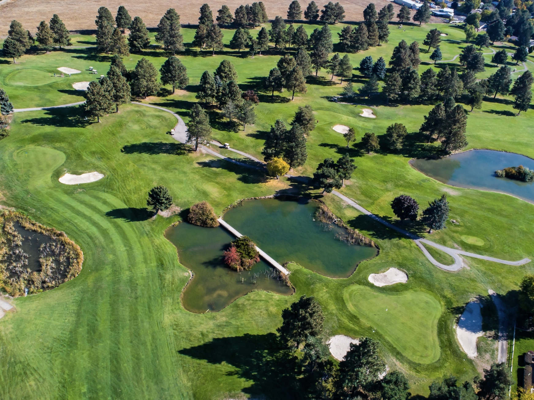 public golf course in the treasure valley in eagle near boise and