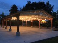 Wedding Pavilion at Night
